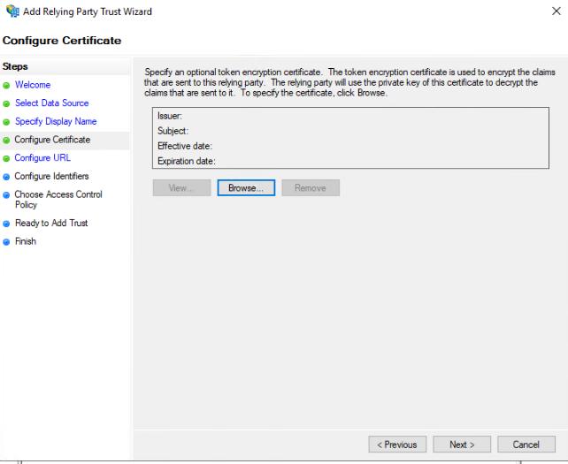 Configure Certificate