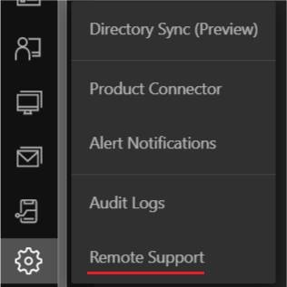 Remote Support Settings