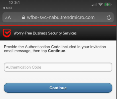 type authentication code