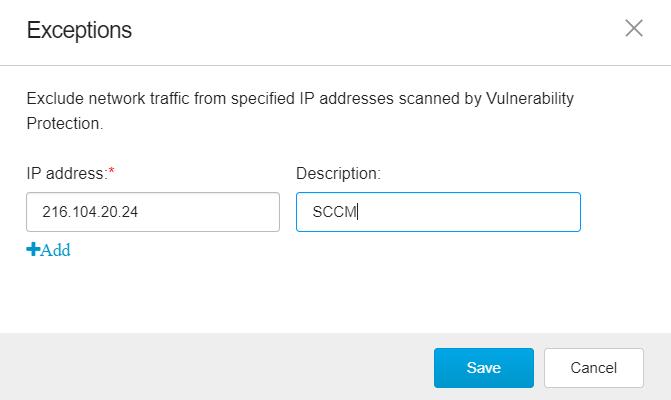 Add IP address and description