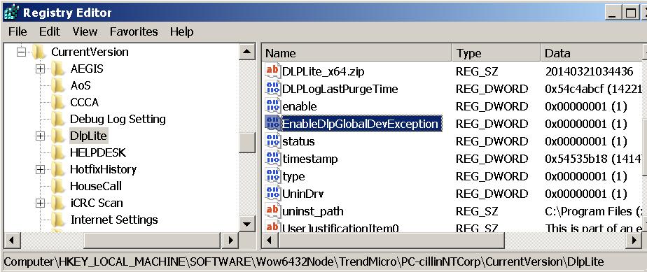 GlobalDevException Registry