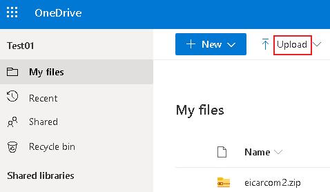 Testing MS OneDrive