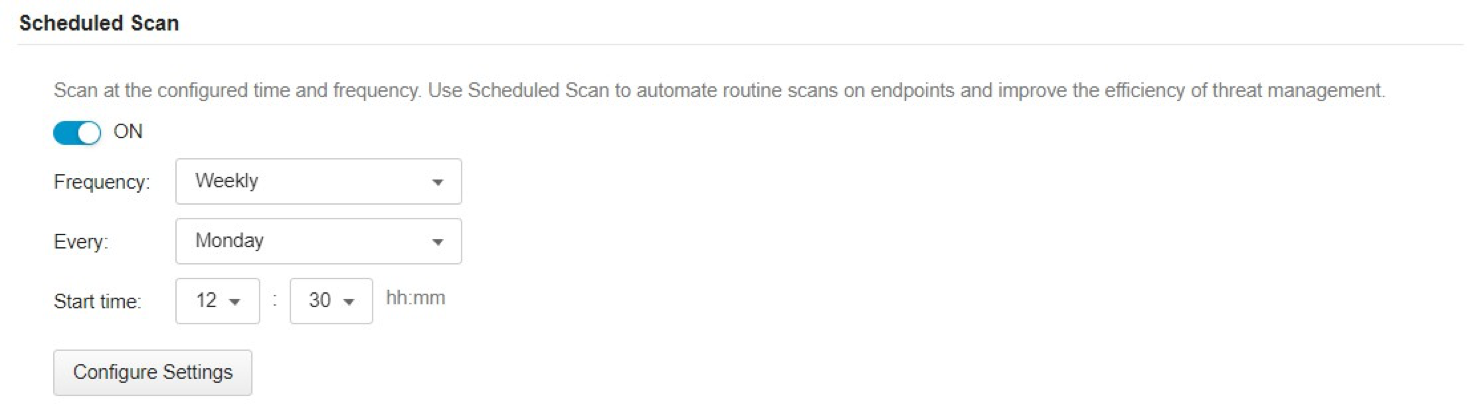 Scheduled Scan