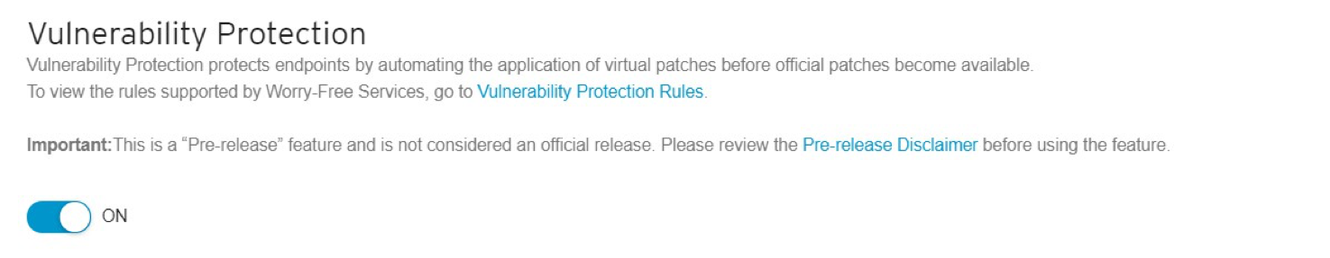Vulnerability Protection