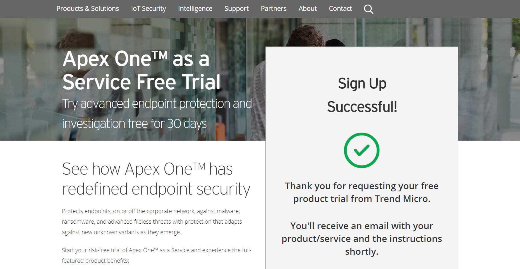 Apex One SaaS Trial