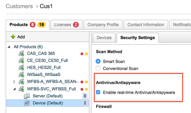 Real-time Anti-Virus/Anti-spyware Scan