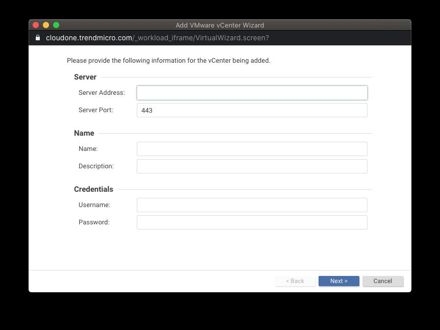 Add VMware vCenter
