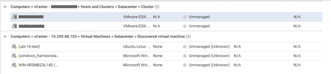 VMware vCenter Synchronization