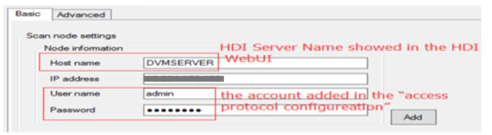Scan node settings
