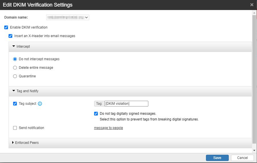 DKIM Verify Settings