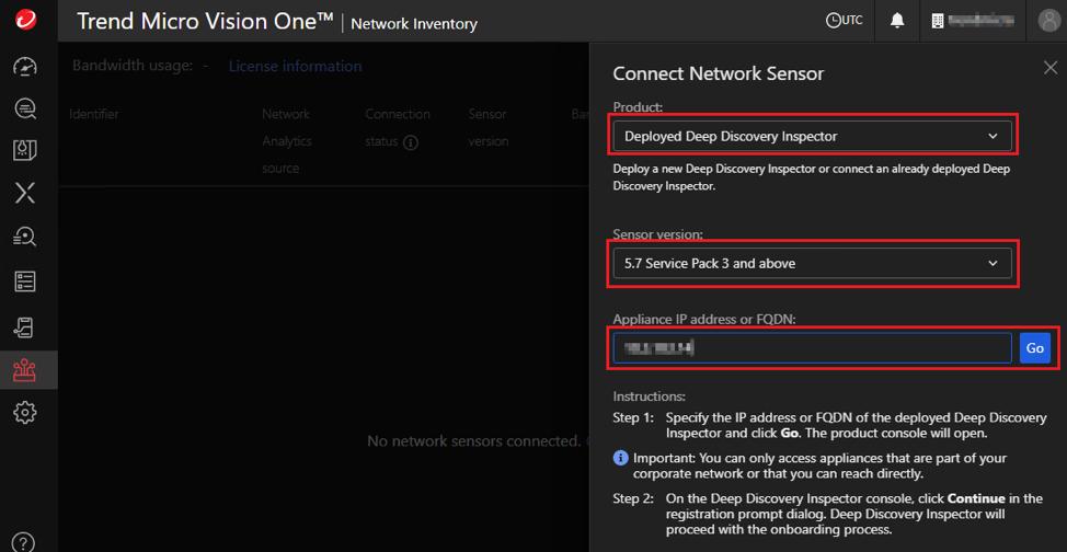enter DDI IP address