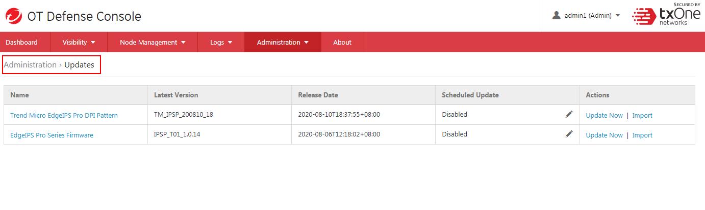 Configure update schedule