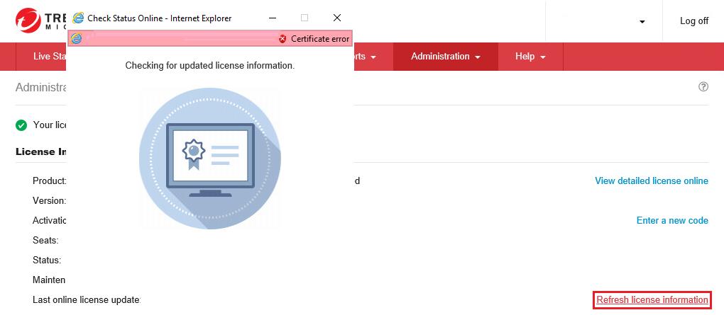Refresh License Information