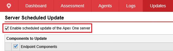 Server Scheduled Update