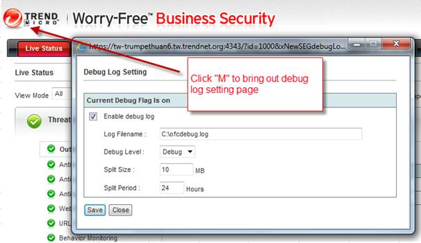 Security Server Debugging