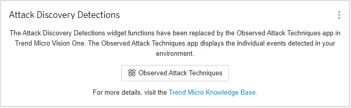Attack Discovery Detections widget