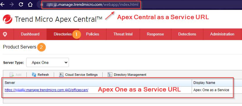 Apex Central URL