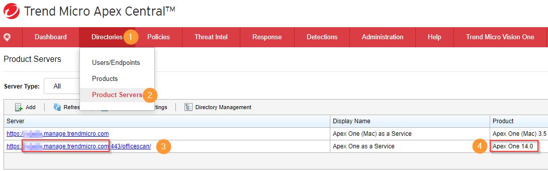 Apex One Server Name