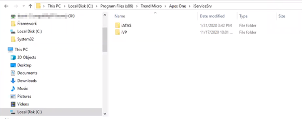 Missing iAC folder