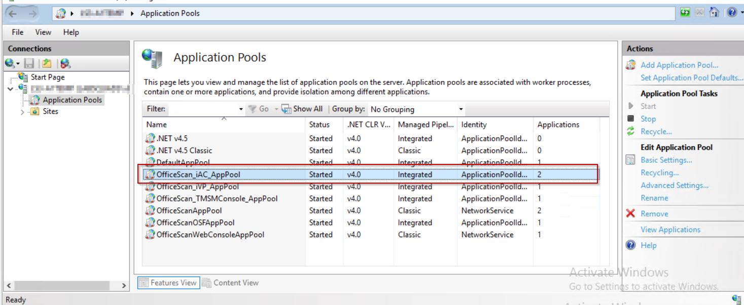 Verification in app pool