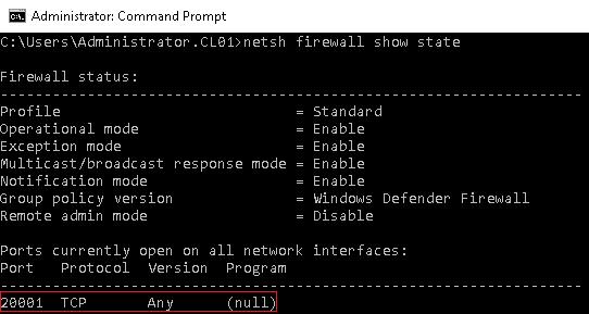 Firewall Status