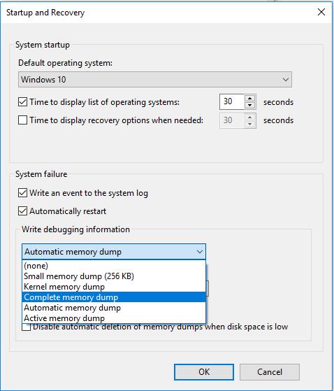 Complete Memory Dump