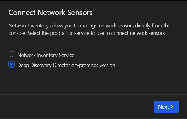 Connect Network Sensors
