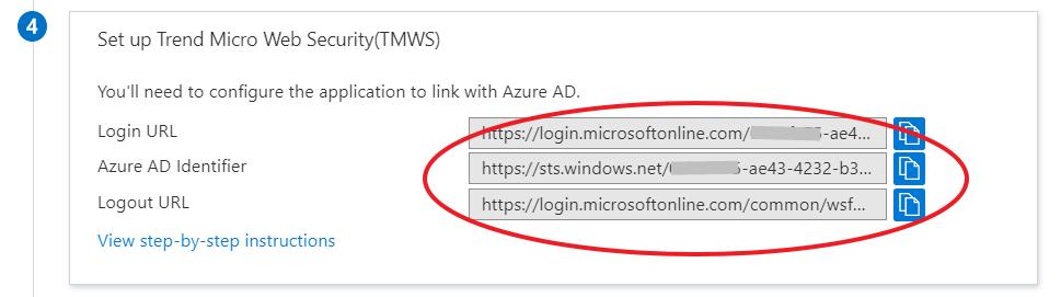 copy the URLs