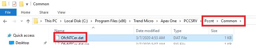 Download Apex One SaaS files