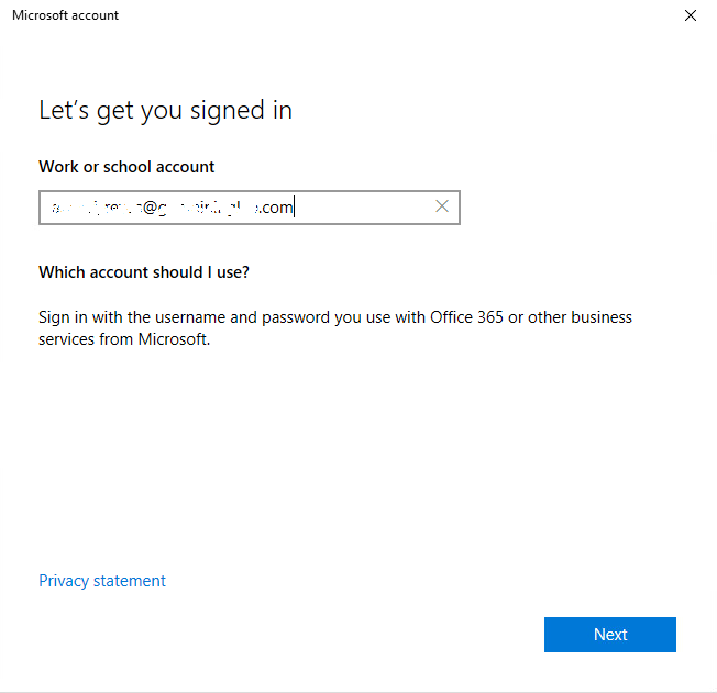 sign in to Intune