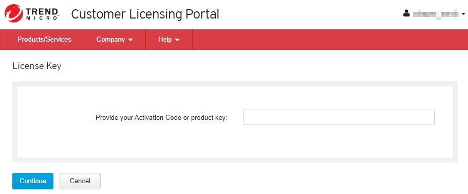 Provide Registration Key