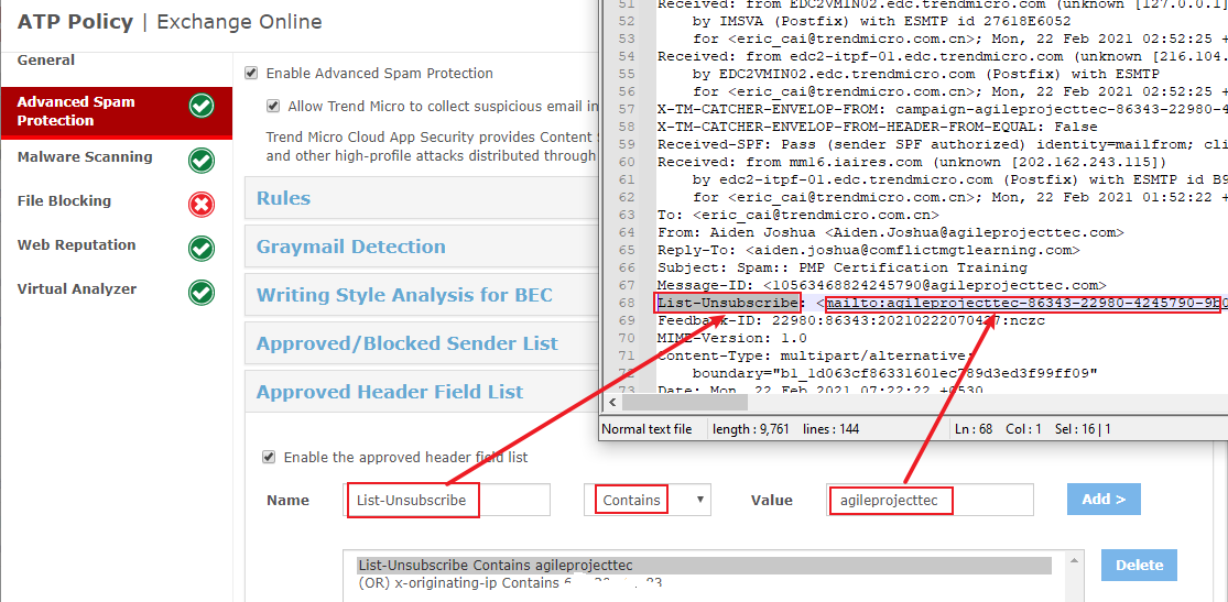 Approved Header field