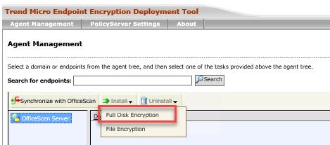 Full Disk Encryption option