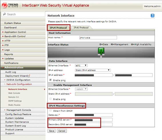 Configure 2 DNS servers
