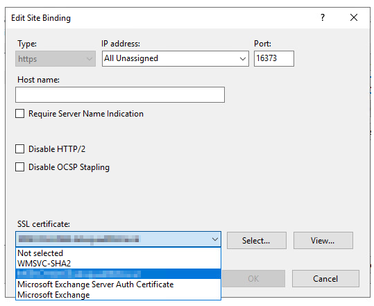 Change SSL Certificate