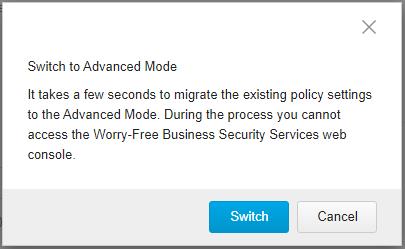 Switch to Advanced UI option