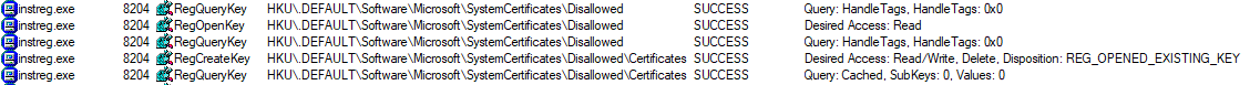 Disallowed System Certificates