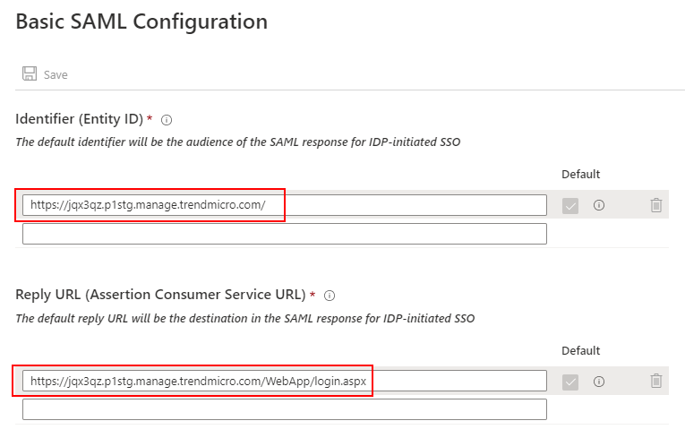 Basic SAML Config