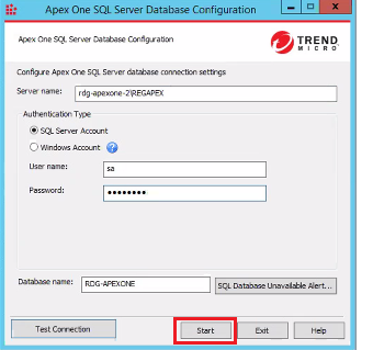 Migrate Apex One MS SQL DB