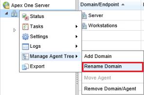 Rename a domain