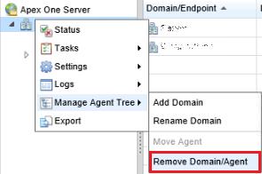 Remove a domain/agent