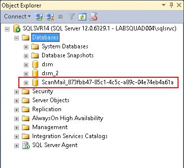 ScanMail database