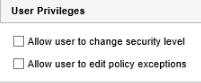 User Privileges