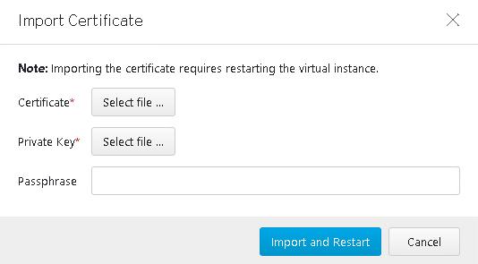 replace certificate