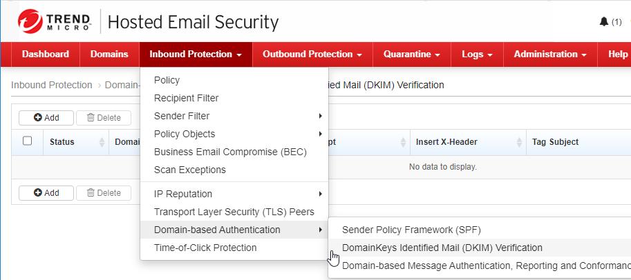 DomainKeys Identified Mail (DKIM) Verification