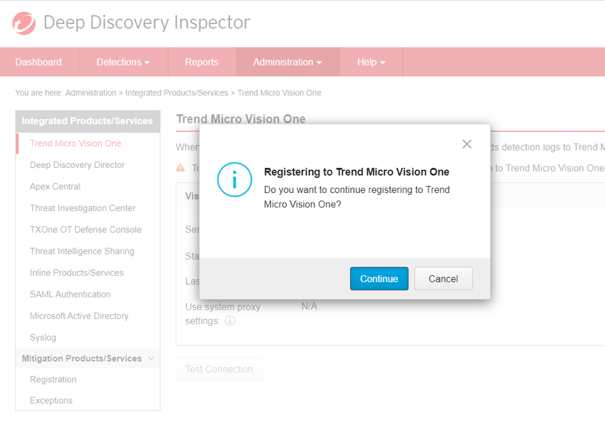 Registering to Trend Micro Vison One
