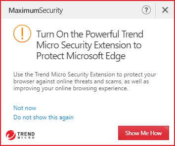 Turn ON the Powerful Trend Micro Security Extension to Protect Microsoft Edge