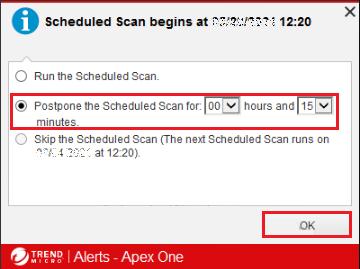 Postpone scanning for