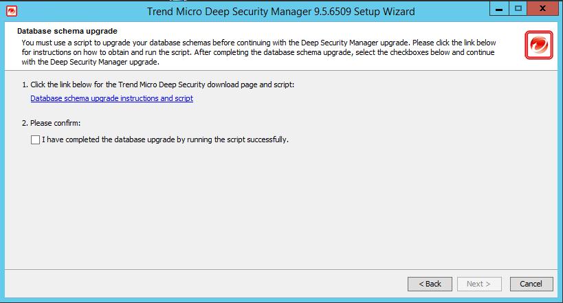 Database Schema Upgrade