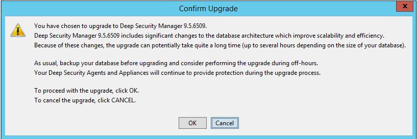 Confirm Upgrade